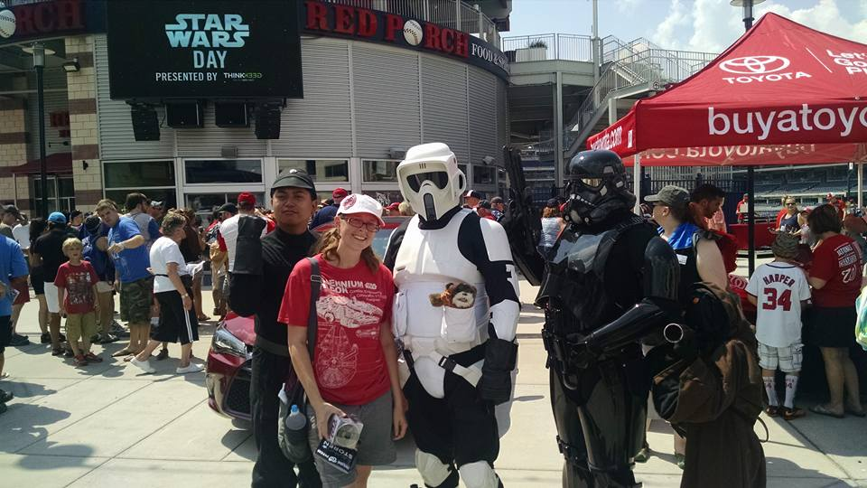 Star Wars day at the stadium